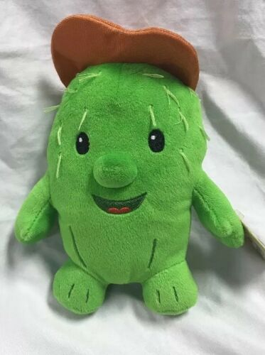 "Disney Junior Sheriff Callie Toby Green Cactus Beanie Cowboy Western Plush 8"""
