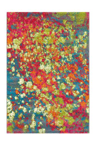 Arte Espina Tapis Coloré Splash couleur klex Fleurs Tapis Bleu Rose Vert