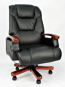 Image Is Loading Genuine Leather Full Recliner Executive Office Chair Superb
