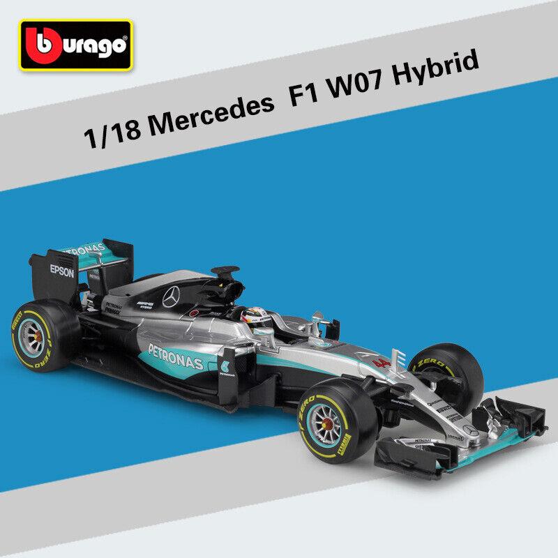 2016 échelle 1 18 MERCEDES AMG F1 W07 Hybride 44  Lewis Hamilton Racing Diecast Toy