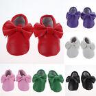 0-24M Baby Kids Tassel Soft Sole Boy Girl Leather Shoes Infant Toddler Moccasin