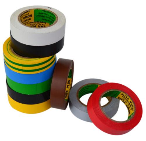 Isolierband Isoband Elektriker Klebeband 10m x 15 mm grün 1//5//10 Rollen