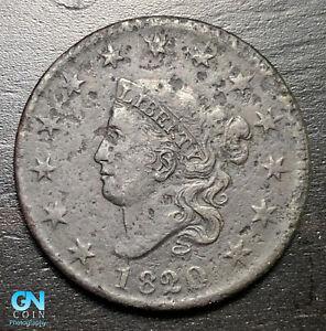 1820-Coronet-Head-Large-Cent-MAKE-US-AN-OFFER-B6295