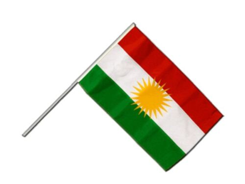 Bandiera Bastone bastone bandiera Kurdistan 60x90cm bandiera bandiera con Bastone