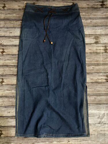 womens large zoey beth denim skirt side slits