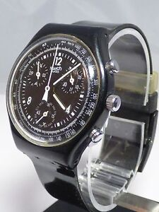 Swatch-SCB114-Pure-Black-Watch-Working
