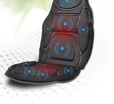 Car Seat Neck Back Massage Soft Black Mat Relax Heated Vibration Chair Medivon