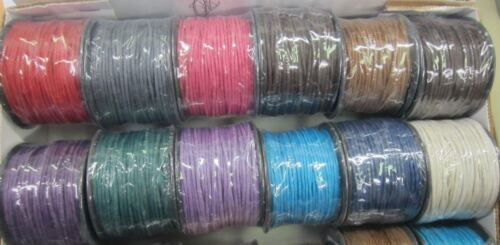 1.5mm Waxed Linen Thread Cord String Jewelry Making Craft 40 Yards US SELLER