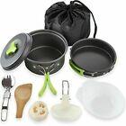 MalloMe 10 Piece Camping Cookware Mess Kit