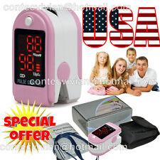 US seller,Pink Finger Tip Pulse Oximeter Blood Oxygen SpO2 PR Monitor,FDA,Pouch
