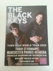 THE-BLACK-KEYS-Turn-Blue-2015-Tour-Flyer-5-12-034-X8-2-034-Collectible-Rock-Music
