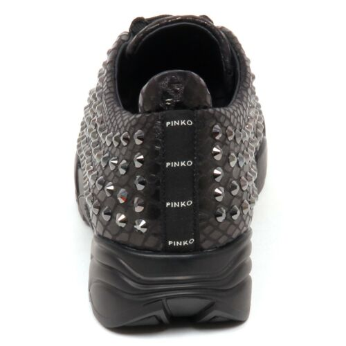 Giglio Stampa Eco 4 Pinko Leather Donna E6820 Pitone Black Woman Shoe Sneaker BnCqpIw4