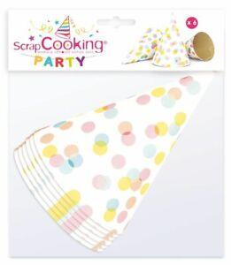 Sombreros-Punta-de-Lunares-6-Piezas-Scrapcooking-Party
