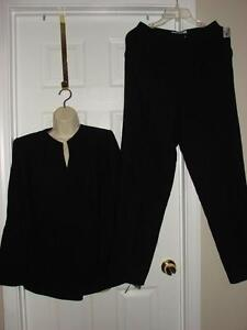 1071eccc4a NWT $139 DRESS BARN 2pc Black Career Pant Suit Blazer 1 Button ...