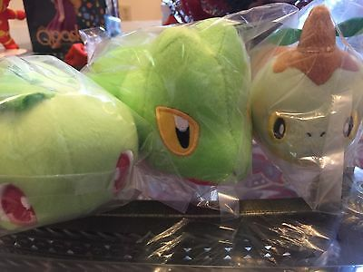 Pokemon Kororin Friend Chikorita Treecko Turtwig Plush Doll Banpresto Authentic!