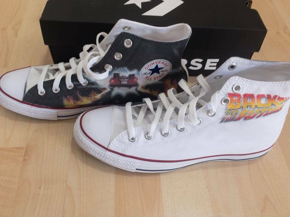 Scarpe Converse Converse Converse All Star Custom Back To The Future, artigianali Made in  | Elegante e divertente  | Gentiluomo/Signora Scarpa  7de489