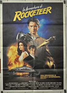 THE-ROCKETEER-1991-ORIGINAL-ITALIAN-POSTER-39X55-JENNIFER-CONNELLY-ALAN-ARKIN