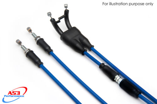 AS3 VENHILL FEATHERLIGHT THROTTLE CABLES to fit KAWASAKI ZX6R 2005-2006 BLUE