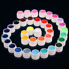 36 Pot Pure Colors UV Gel Nail Art Tips Shiny Cover Extension Manicure Decor