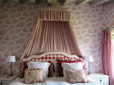 Classic Toile De Jouy - Raspberry - Wallpaper - 6120 - FREE POST - Provencale