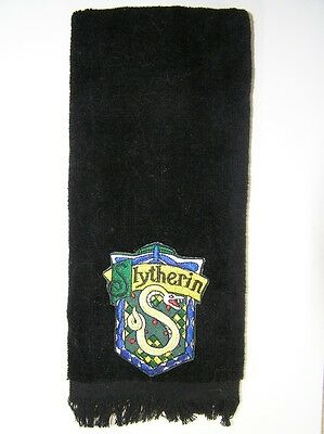 Slytherin fingertip TOWEL  FREE SHIPPING Harry Potter House vintage applique