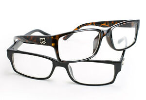 Classic-Timeless-Clear-Lens-Glasses-Black-Tortoise-Retro-Thick-Frame