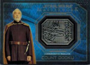 STAR-WARS-Masterwork-2016-Silver-Medallion-Card-of-Count-Dooku-55-99