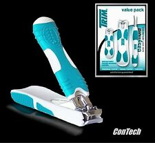 SURE GRIP TRI-PACK - Finger + Toe Nail Clippers + Tweezers! Great Arthritis Aid!