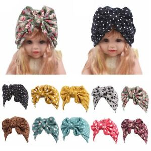f99a4a2a8d4 Fashion Boy Girl Newborn Toddler Kids Baby Turban Bowknot Beanie Hat ...