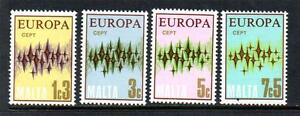 MALTA MNH 1972 SG478-481 EUROPA SET OF 4