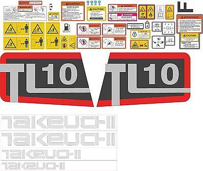 Takeuchi TL 12 Skid Steer Decal Kit Equipment Decals TL12 TL-12