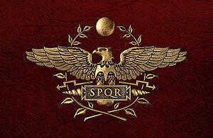Large Framed Print - SPQR Roman Soldier Emblem/Logo/Symbol ...