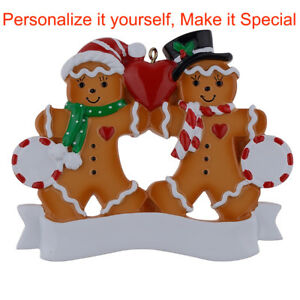 MAXORA-Personalized-Ornament-Gingerbread-Family-of-2-3-4-5-6-Christmas-Gift