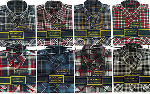 Mens-Flannel-Lumberjack-Check-Brushed-Cotton-Work-Shirt-M-XXL