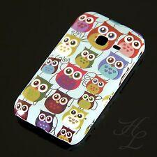 Samsung Galaxy Ace Duos S6802 Hard Case Handy Hülle Etui Kleine Eule hell Owl