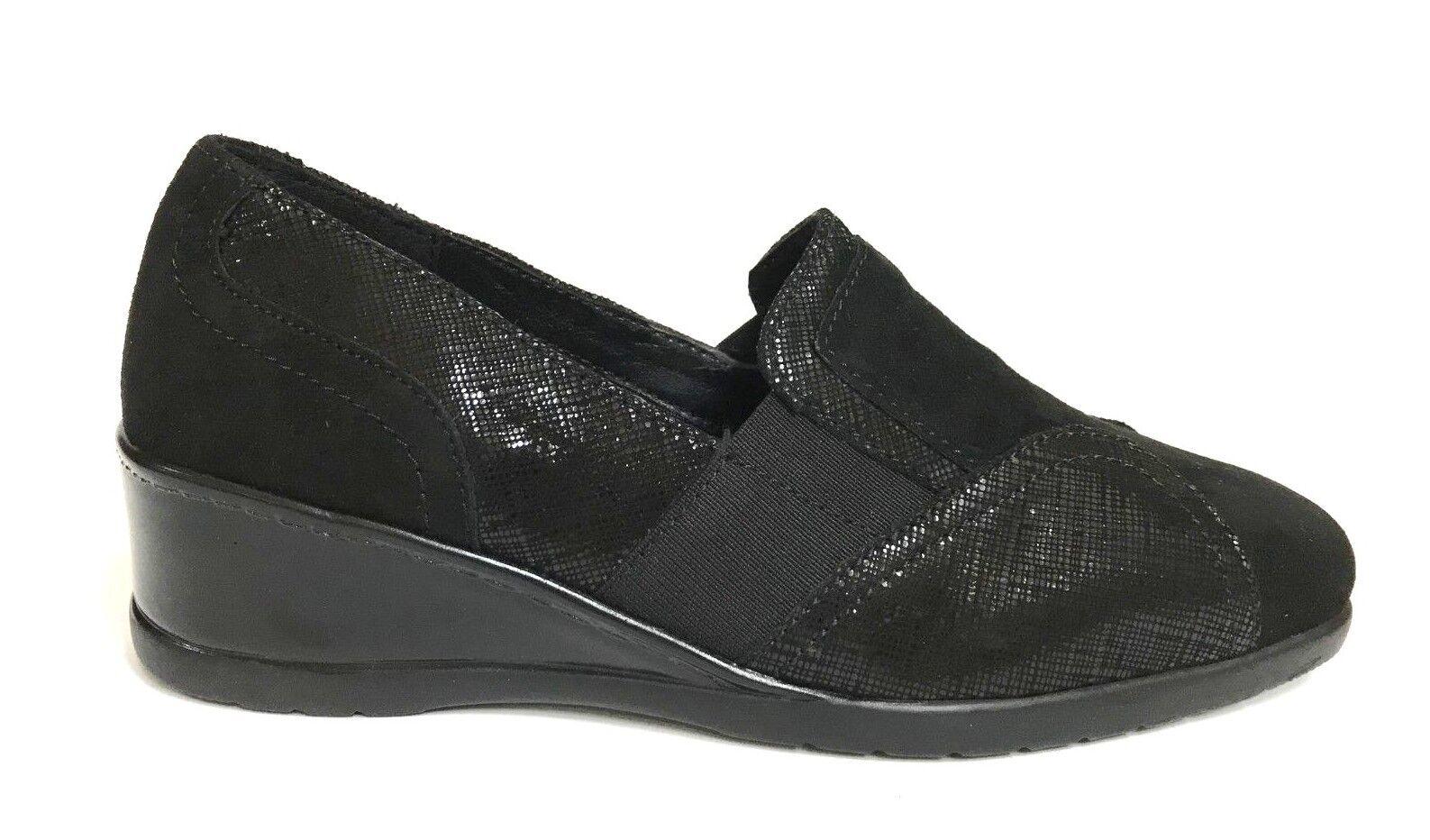 shoes women CINZIA SOFT MOCASSINI COMFORT 9074 black INVERNO 2018 19 SCONTO 30%