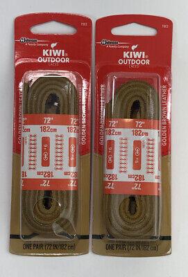 2 Pair Kiwi Leather Shoe Laces 703