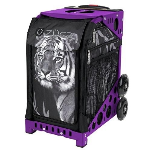 Zuca Tiger Insert Bag & Purple Frame with Flashing Wheels