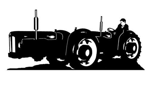 Large Steel Doe Triple D Tractor Weathervane or Sign Profile Laser cut 500mm