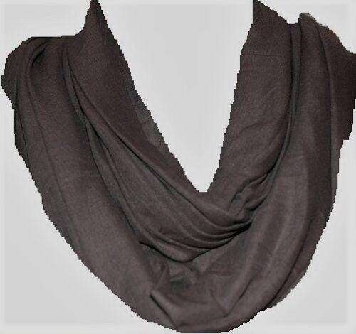 LOVELY nuove donne signore Jersey Cerchio Anello Cappuccio Sciallato Infinity Plain sciarpa copricollo