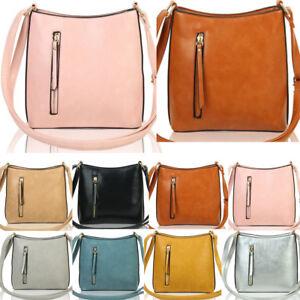 cf9eef6963 LeahWard Women s Soft Cross Body Bags Front Zip Design Shoulder Bag ...