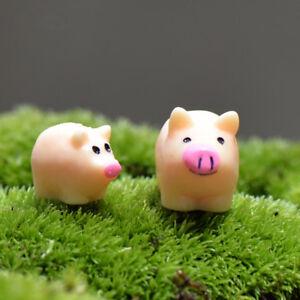 Mini-5-Stuecke-Schwein-Miniatur-Garten-Rasen-Ornament-Dekor-Figur-DIY-Bonsai-Yard