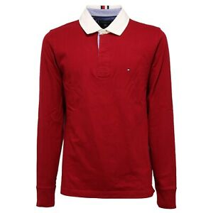 official photos 60f62 d89d2 Details about 1272K polo uomo TOMMY HILFIGER BCI maglia dark red cotton  t-shirt man
