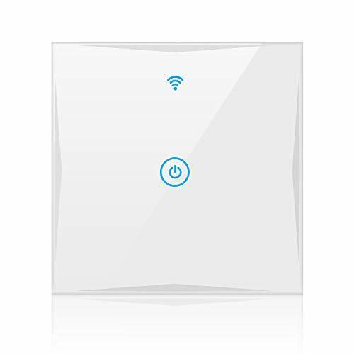 Alexa Smart Lichtschalter SAINKO 1-Weg WLAN In-Wall gehärtetes Glas Touchscre...