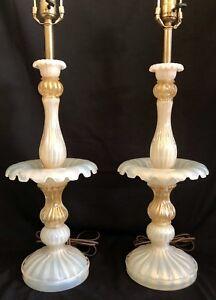 Vintage-Antique-Italian-Murano-Barovier-Toso-Art-Glass-Lamp-PR-Gold-Opalescent-2