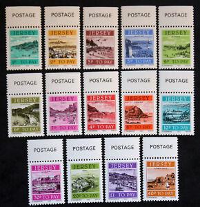 Briefmarke-Jersey-Yvert-und-tellier-Steuer-n-33-a-46-n-mnh-Cyn29-Briefmarke