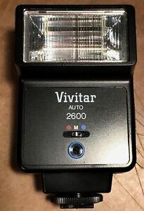 Vivitar-2600-Shoe-Mount-Flash-FOR-CANON-NIKON-Tested-Mint-in-Original-Box