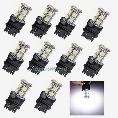 10X T25 3156 3157 White 13 LED 5050 SMD Stop Brake Car Light Bulb Lamp