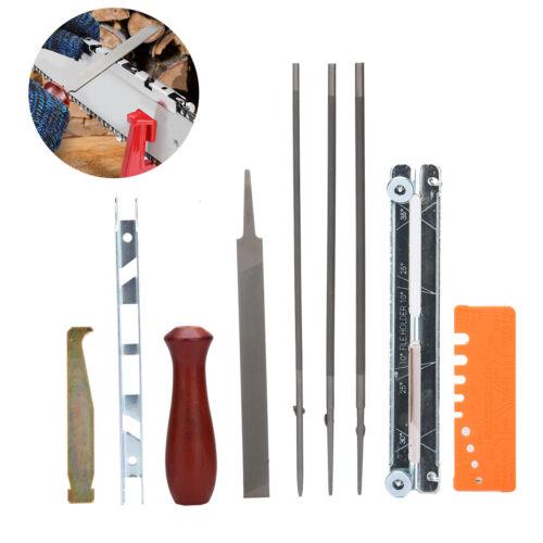 10 Kettensäge Sägen Kettenschärf Motorsäge Kit Guide Datei Spitzer Werkzeuge
