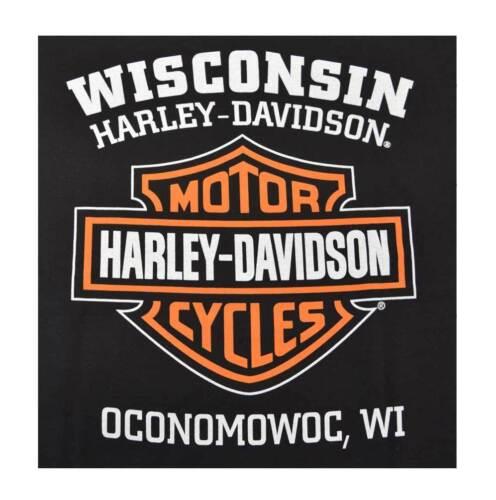 Harley-Davidson Men/'s Orange Bar /& Shield Black T-Shirt 30290591